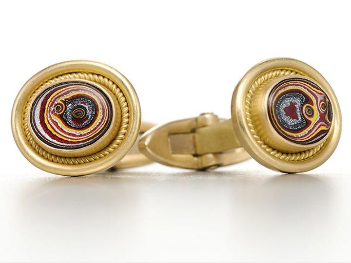 Tmx Rr Braid Cufflink Fordite 51 984283 New York, NY wedding jewelry