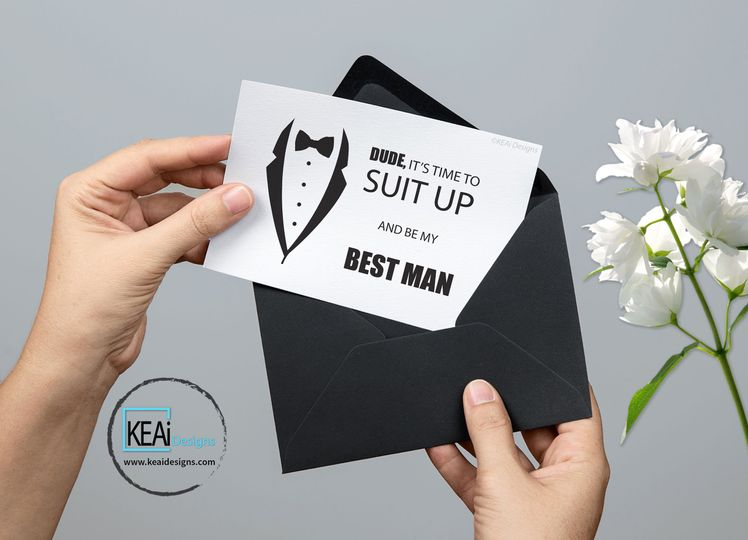 "Ask ""Will you be my Best Man"" Invite"