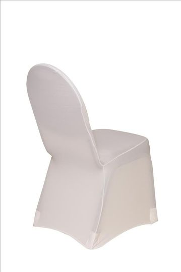 White2SpandexBanquetChairCover