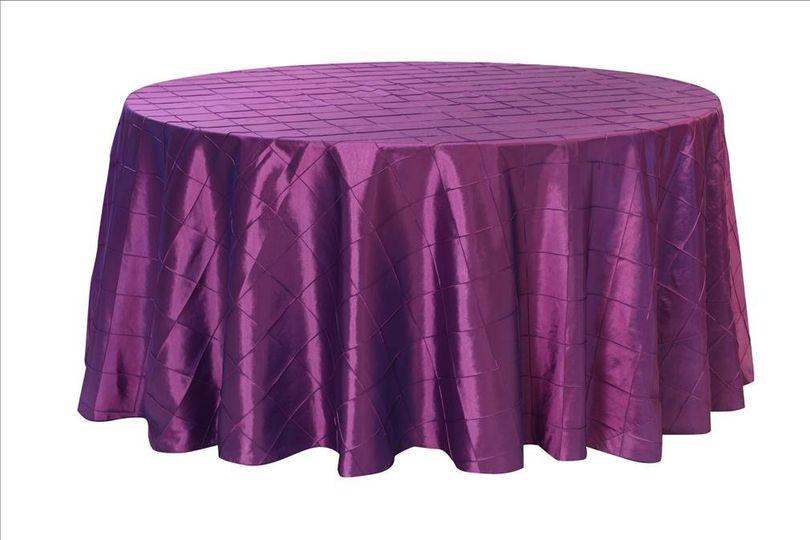 PurplePintuckRoundTablecloth
