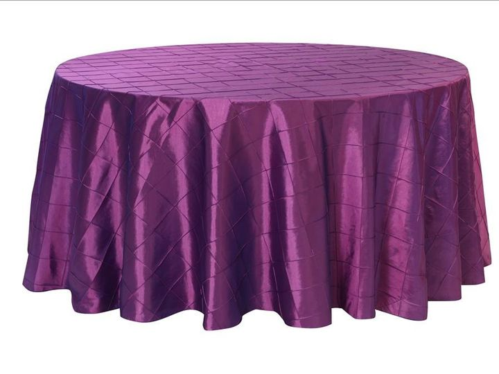 Tmx 1358295262161 PurplePintuckRoundTablecloth Sun Valley wedding eventproduction