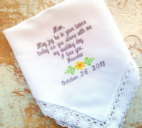 handkerchief mom yellow flowe