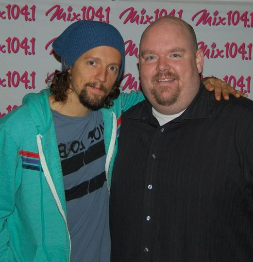 "With Jason Mraz at Mix 104.1's ""Spring Fling"" show."