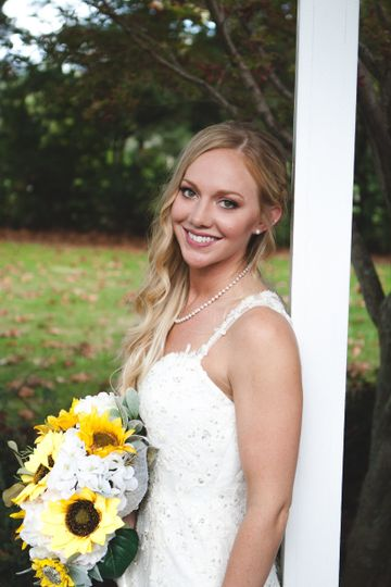 Our gorgeous first Millsite Lodge bride. Thank you for trusting us to take care of your wedding...
