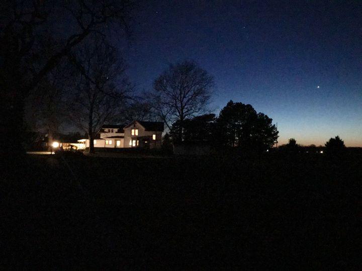 The Big sky over the Millsite Homestead
