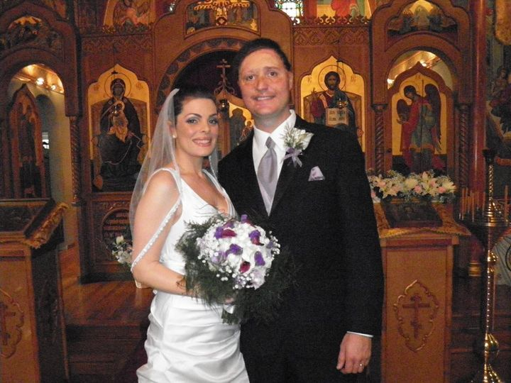 Newlyweds in a chruch