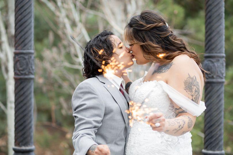 Sparkler picture for wedding