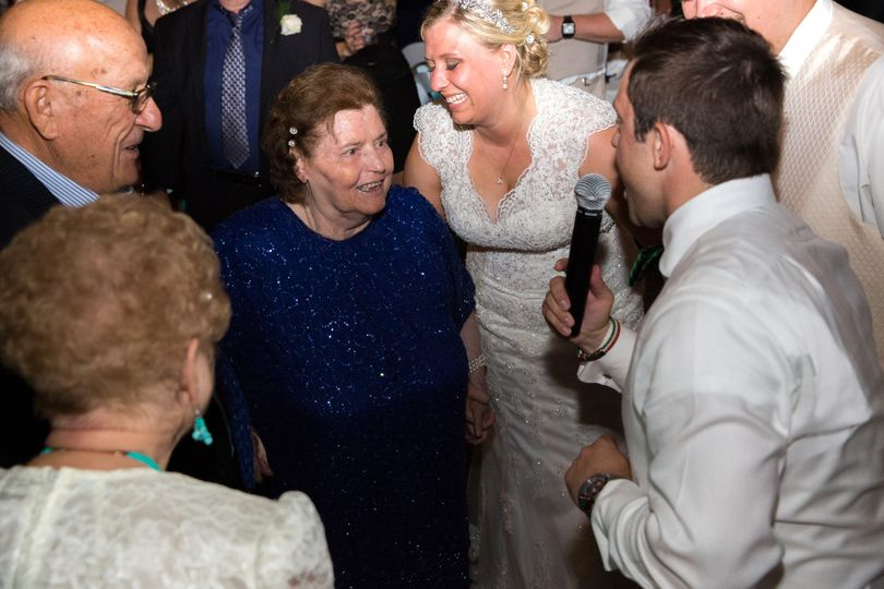 We work well with guests of all ages. Here, we're announcing the longest married couple during at...