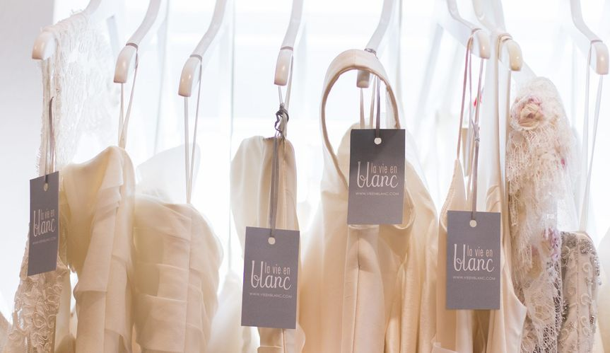 dresses hanging new tag