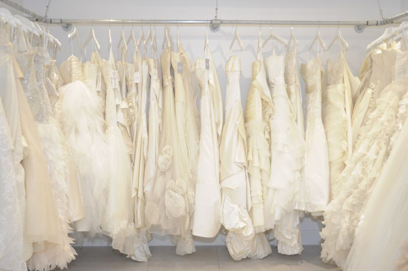 Wedding dress closet