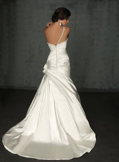 allure bridals wedding dress style 8750 back