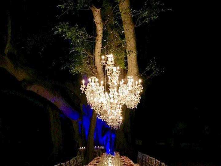 Tmx Chandeliers Over One Table Night Time 51 53383 Bradenton, FL wedding eventproduction