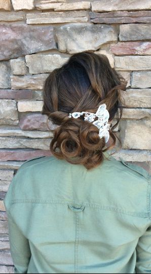 Bride Low Bun