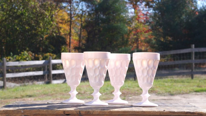 Light Pink Thumbprint Goblets. Just a few of the many different goblets available!