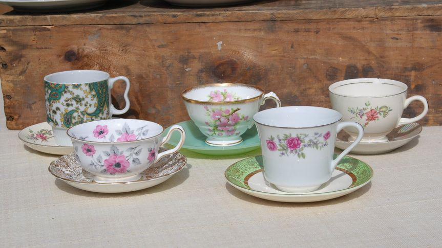 Tons of vintage china for your event