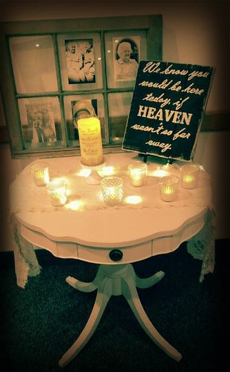 Memorial idea! Sign and Table available and window can be customized!