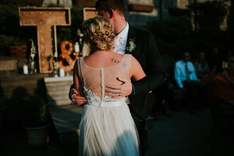 The newlyweds dance