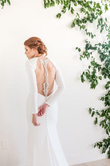 A classic bridal updo
