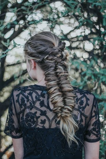A bridal boho braid