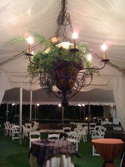 Leafy chandelier