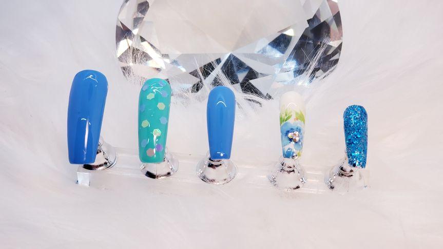 """Something Blue"" Nail art"
