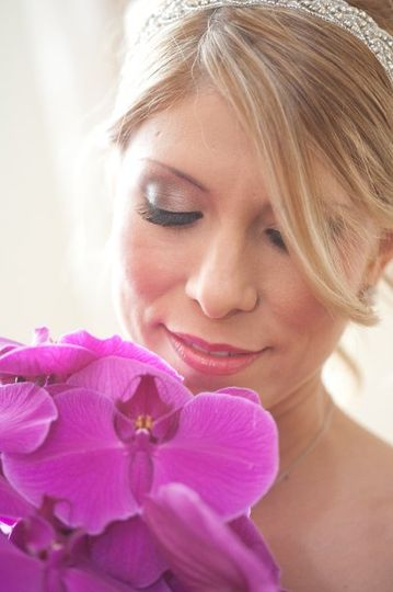 Bride and her bouquet - One Fine Day Photographers