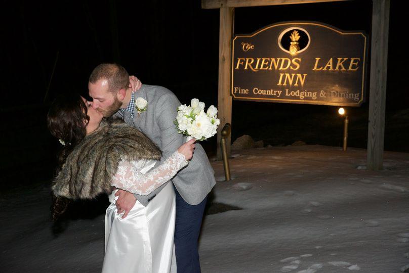 Winter Wedding At Friends Lake Inn