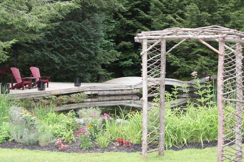 Garden ceremony location