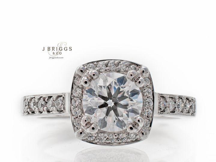 Tmx 1424271004539 Cushion Halo Northborough wedding jewelry
