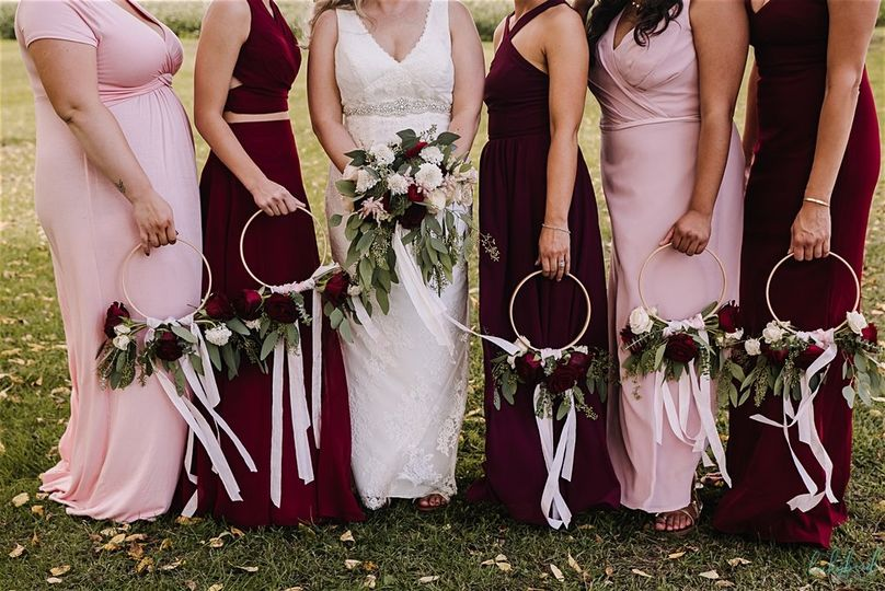 Bridal bouquets and circle bouquets