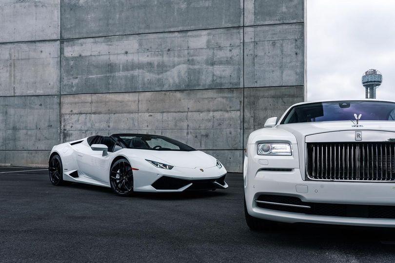 Lamborghini and Rolls Royce