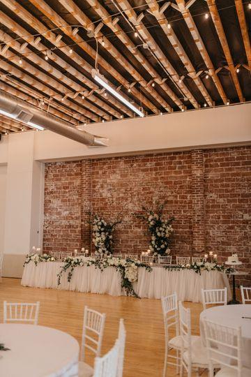 Brick + Flower Backdrop