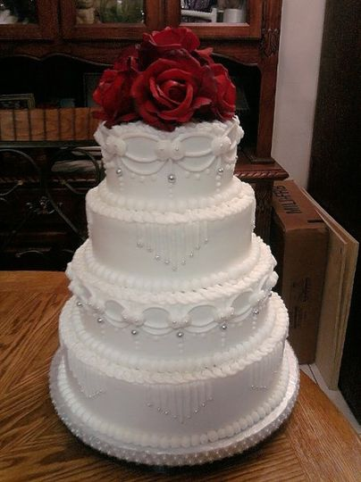 Butter Cream Wedding Cake