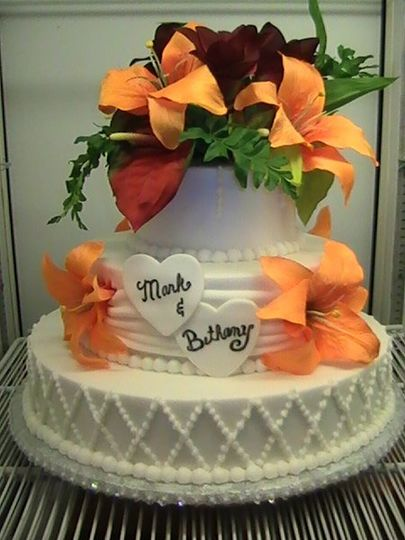Butter Cream Cake With Fondant Accents