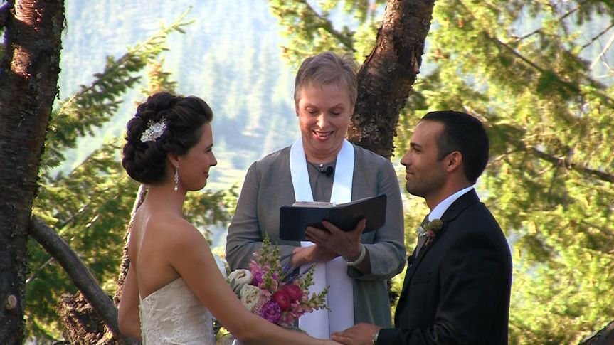 Holly & Vahid were married in Coeur d'Alene, Idaho area in a private residence in a garden area....