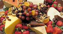 artisan cheese with grapes and nuts pennsylvania catering