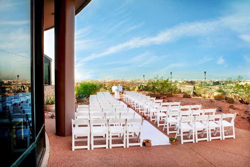 Top of the Rock Patio Wedding Ceremony