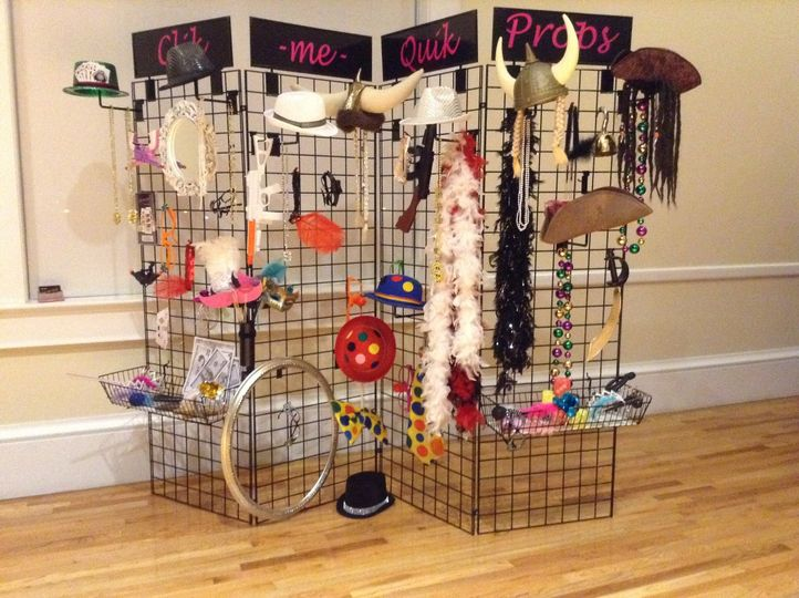wedding wire prop rack
