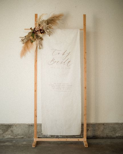Linen Welcome Sign