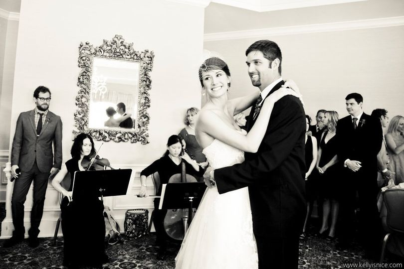 Lark Violin and Cello Duet performing  The Lover's Waltz for Anna and Andy's first dance!  Image...