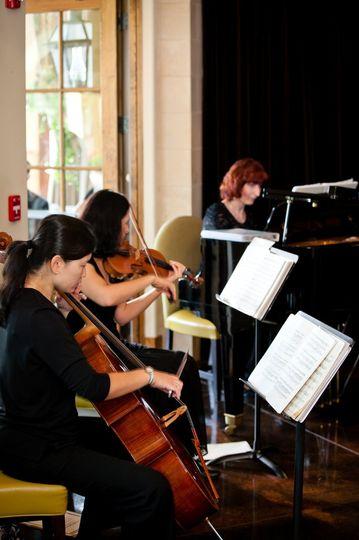 Lark Chamber Music Piano Trio at Montaluce Winery. Image courtesy of Slava Slavik Photography.