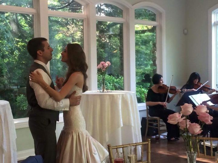 First Dance to Can't Help Falling in Love played by Lark Chamber Music quartet.