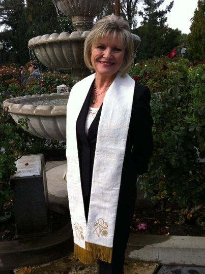rev susan fountain in stole