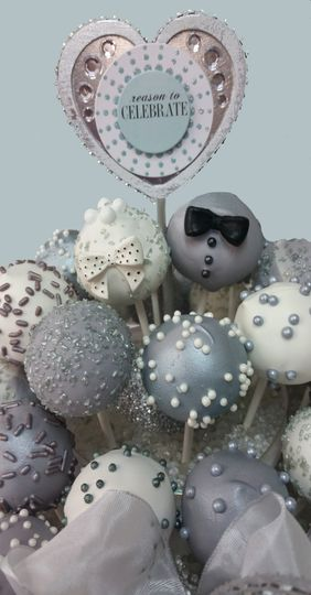 Silver and white icing