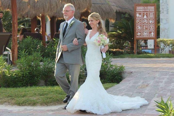 Pronovias Diango wedding gown.