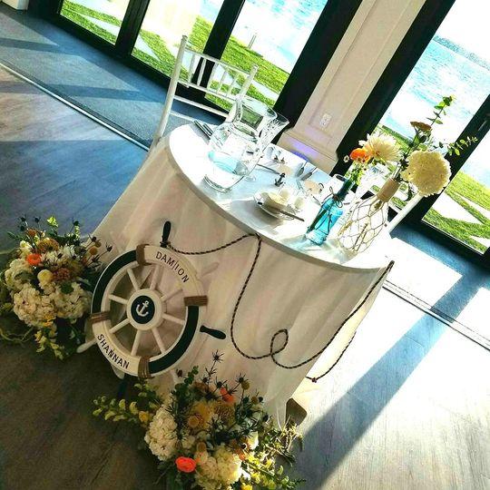 Vintage nautical destination wedding