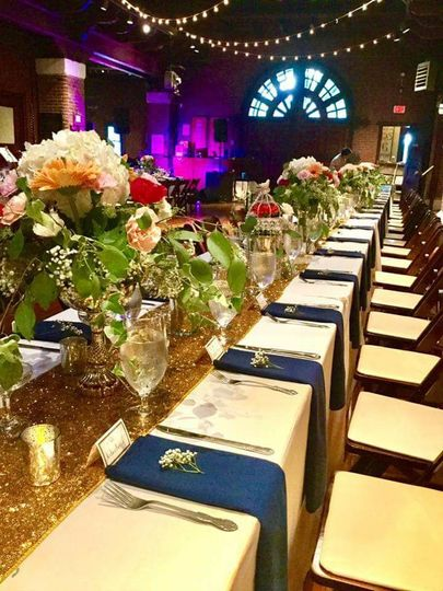 1920s Great Gatsby themed wedding @ beautiful Larz Anderson Auto Museum.  Floral arrangements, place...