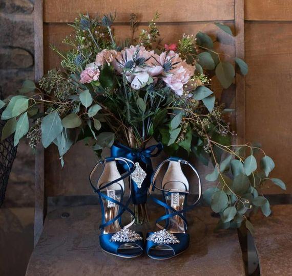 A wild asymmetrical bouquet we designed for our beautiful bride & former assistant, Jillian