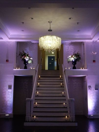 Dramatic staircase decor
