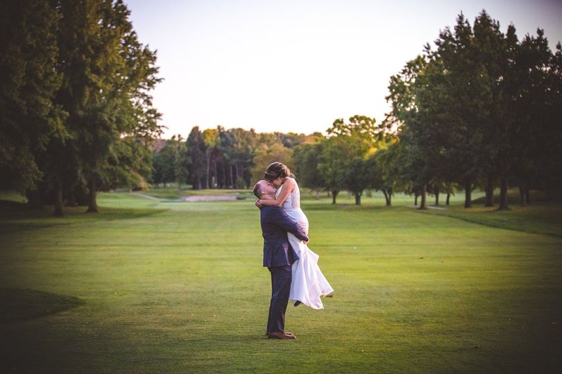 Couple with Golf Course